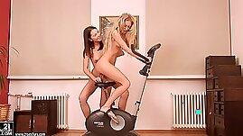 Dildo With Horny Lesbian Chicks