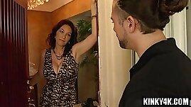 Brunette pornstar seduce and facial