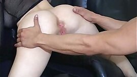 ass hole is cleaned using tongue