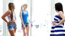 Teenie Lola Foxx, Aubrey Star, Charlotte Stokely and Abby Cross
