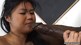 Super hot Asian gets a big black cock in her cunt