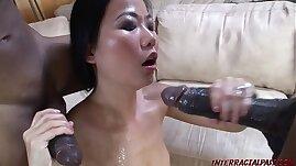 Asian takes monster black cocks