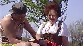 hairy bush years old mom brutal outdoor fucked
