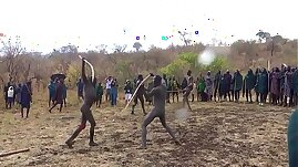 Donga Naked Stick Fight in the Omo