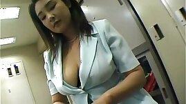 Yui Tokui fucks with ohmibod vibrator at office