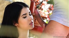 Black haired babe enjoys outdoor sex