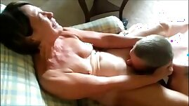 Mature hot lady receiving oral sex