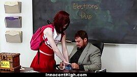InnocentHigh Redhead Cheerleader Rides Her Teachers Big Cock