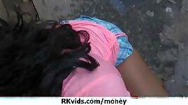 Horny schoolgirl bitche having sex for money