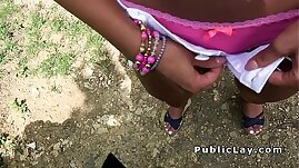 Hot blonde likes money and public sex